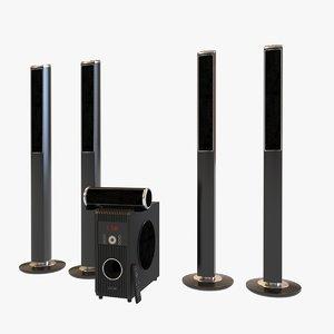 3D surround speakers sub model