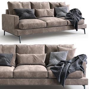 verzelloni sofa larsen 3D