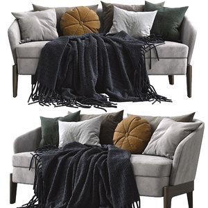 3D model molteni c chelsea fabric sofa