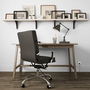 3D lamp desk chair model