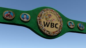 3D wbc boxing belt model