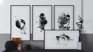 3D model paintings abstract decorations picture