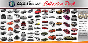 alfa romeo cars pack 3D model