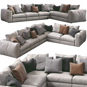 3D flexform sofa asolo model