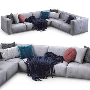 prostoria sofa match 3D model