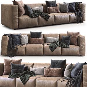 prostoria leather sofa match 3D model