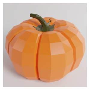 3D cartoon pumpkin