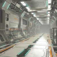 Sci Fi Modular Corridor Version 2 - Low Poly