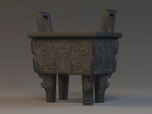 cultural relics unearthed ancient 3D