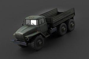 3D trucks military vehicles transporters model