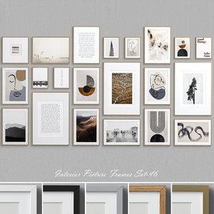 interior picture frames set-46 3D
