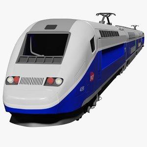 realistic tgv pos speed train 3D