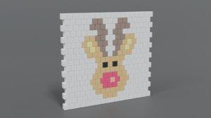 wall rudolph 3D model