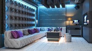 3D bar karaoke room model