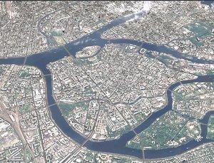 cityscape sankt-peterburg russia city 3D
