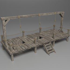 gallow 3D model