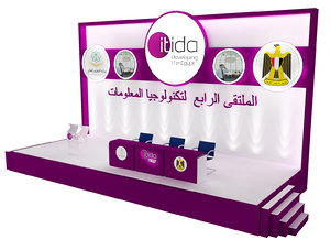 3D model backdrop event exhibition stand