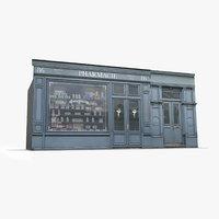 Photorealistic Storefront Facade Pharmacy