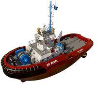 Tugboat ASD red