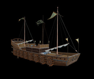 3D ancient warships model