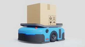 3D warehouse robot automated guided