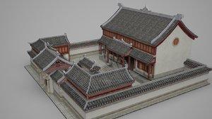 ancient courtyards rich 3D model