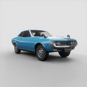 3D toyota celica 1600 model