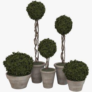 3d model decorative pots