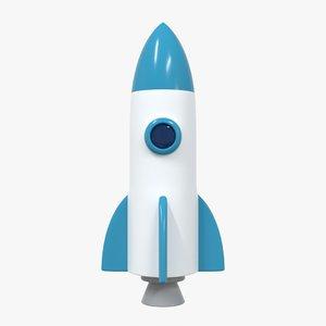 rocket icon 3D model