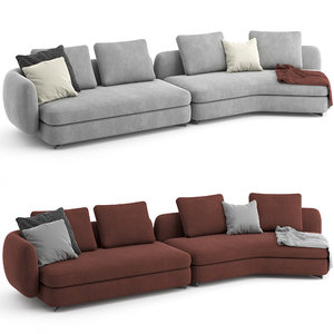 sofa saint germain poliform 3D model