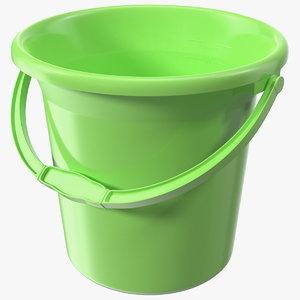 3D model plastic bathroom bucket