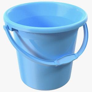 unbreakable plastic bathroom bucket 3D model