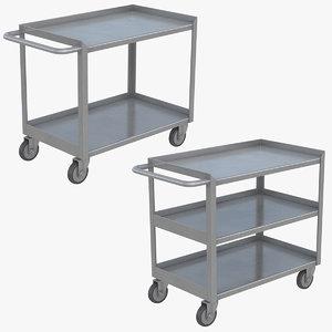 realistic utility cart set 3D