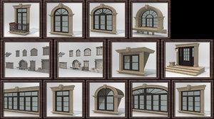 3D windows door