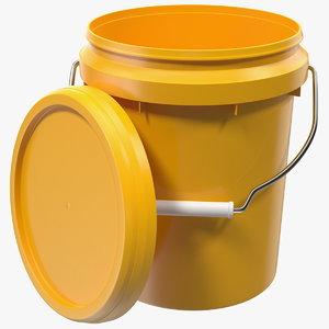 plastic bucket 5l lid 3D model