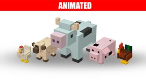 3D farm animals