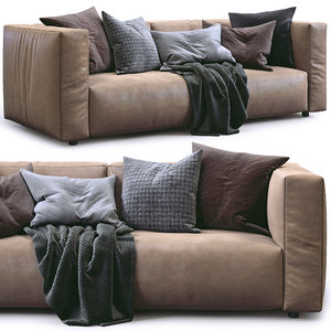 prostoria leather sofa match 3D