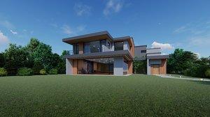 luxurious park family home house 3D