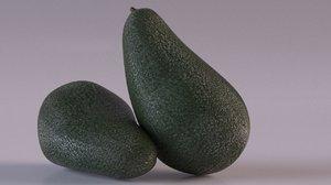 avocado fruit 3D model