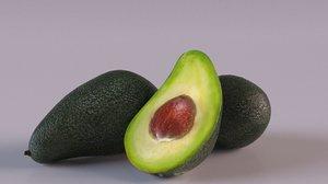 avocado slice health 3D model