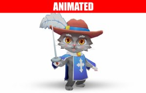 3D animations jump run model