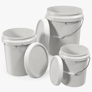 3D food grade plastic buckets