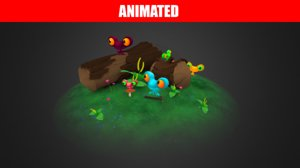 frogs pack animations 3D