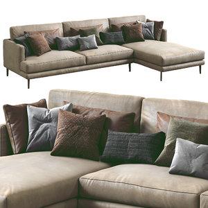 bonaldo sofa paraiso 3D