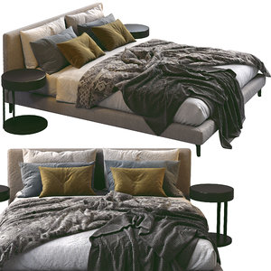 3D meridiani bed stone model