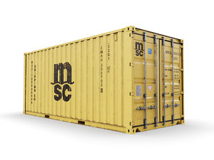 20 feet shipping container 3D model
