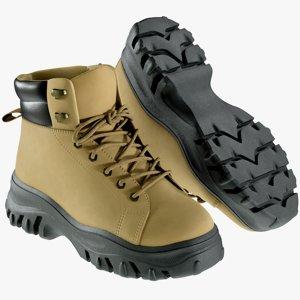 realistic women s boots 3D model
