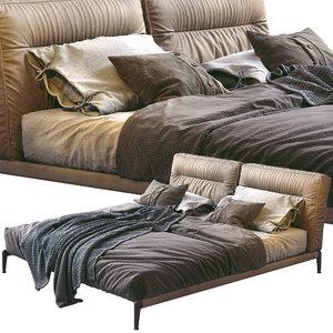 flexform bed adda 3D model