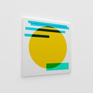 contemporary art canvas 3D