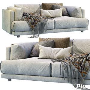 3D family lounge living divani
